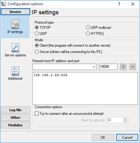 TCP IP Settings